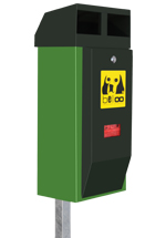 belloo-combi-luca dog waste bin